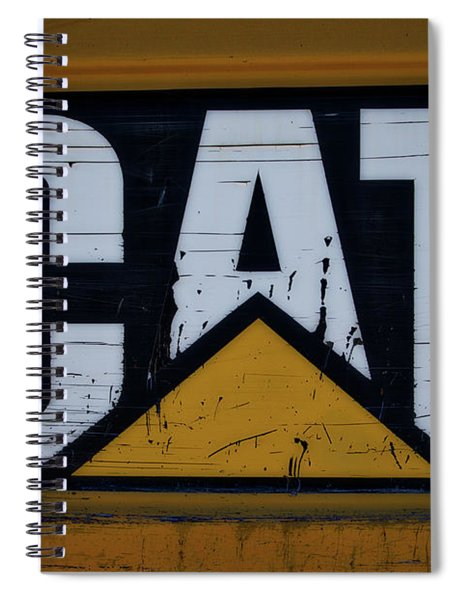 Gravel Pit Cat Signage Hydraulic Excavator Spiral Notebook
