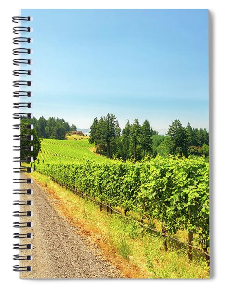 Gravel Road And Vineyard Spiral Notebook