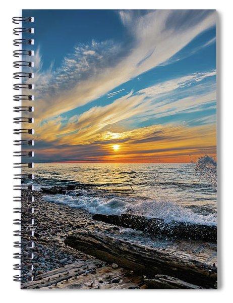 Graveyard Coast Sunset Spiral Notebook