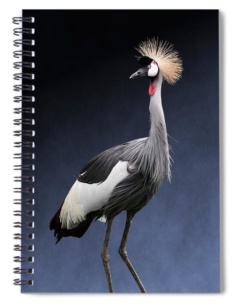 Gray Crowned Crane Spiral Notebook