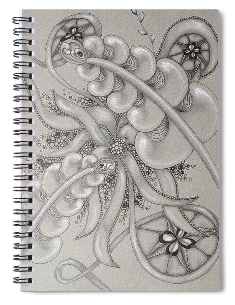 Gray Garden Explosion Spiral Notebook