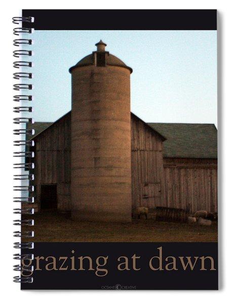Grazing At Dawn Spiral Notebook