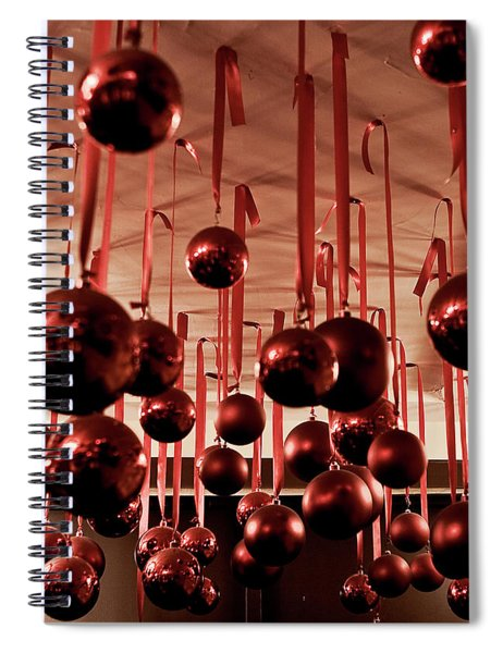 Spiral Notebook featuring the photograph Great Balls Of Macy's by Lorraine Devon Wilke