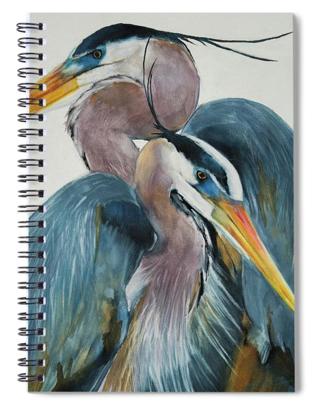 Great Blue Heron Couple Spiral Notebook