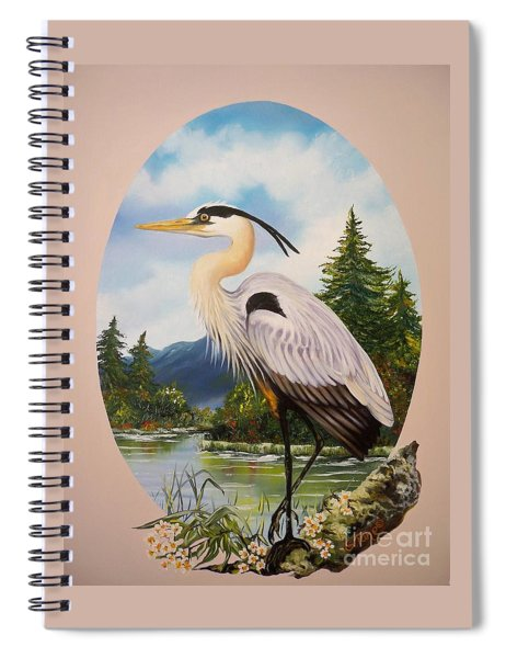 Flying Lamb Productions                 Great Blue Heron Spiral Notebook