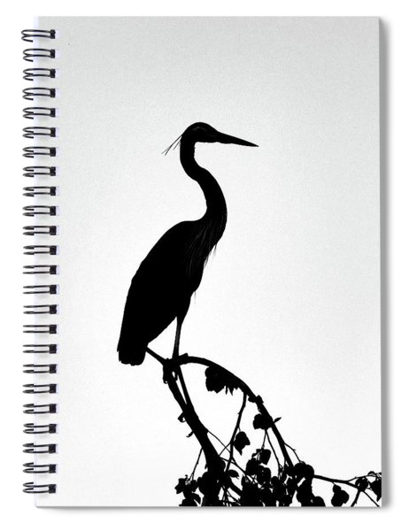 Great Blue Heron Silhouette Spiral Notebook