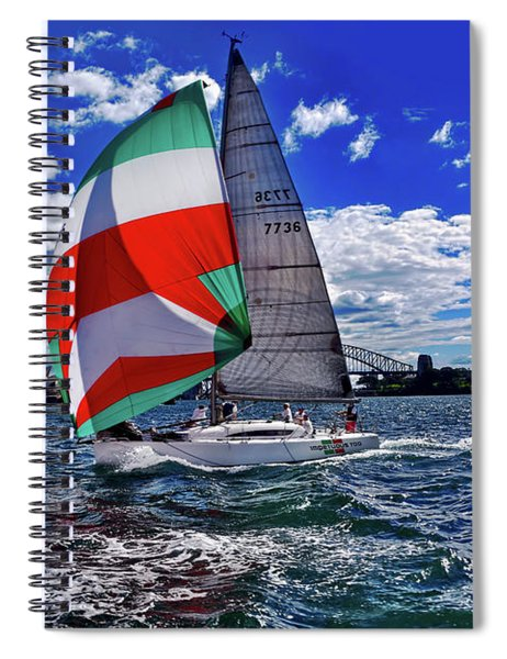 Great Day For Sailing By Kaye Menner Spiral Notebook