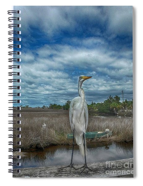 Great Egret Spiral Notebook