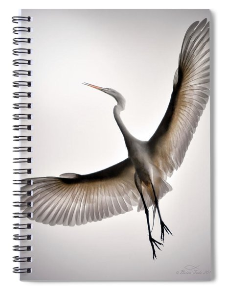 Great Egret Majesty Spiral Notebook
