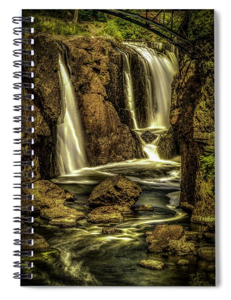 Great Falls Close Up Spiral Notebook
