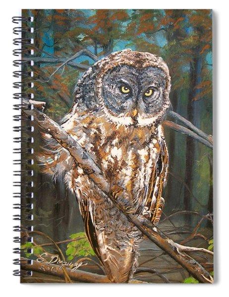 Great Grey Owl 2 Spiral Notebook