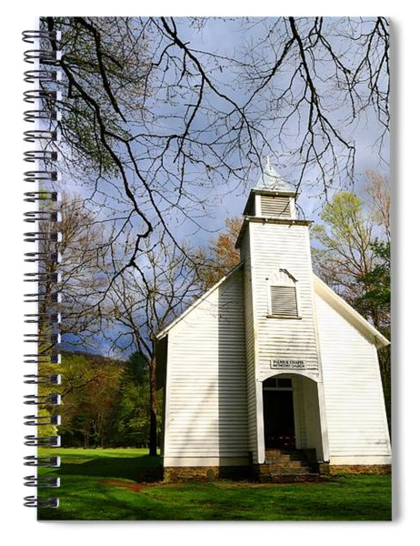 Great Smoky Mountains Spring Storms Over Palmer Chapel  Spiral Notebook
