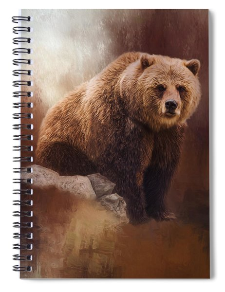Great Strength - Grizzly Bear Art Spiral Notebook