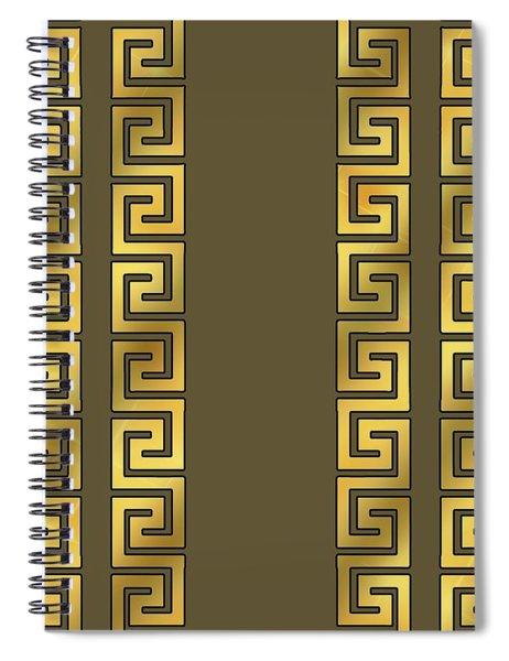 Greek Gold Pattern - Chuck Staley Spiral Notebook