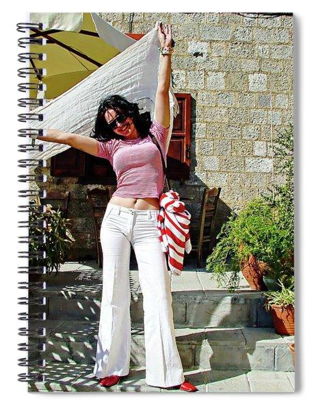 Greek Model - Rhodes, Greece Spiral Notebook