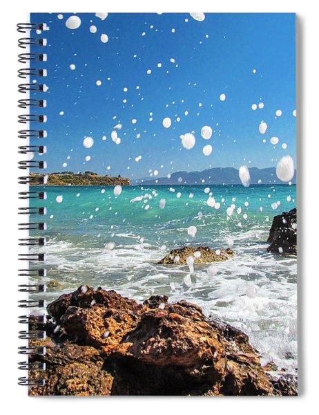 Greek Surf Spray Spiral Notebook
