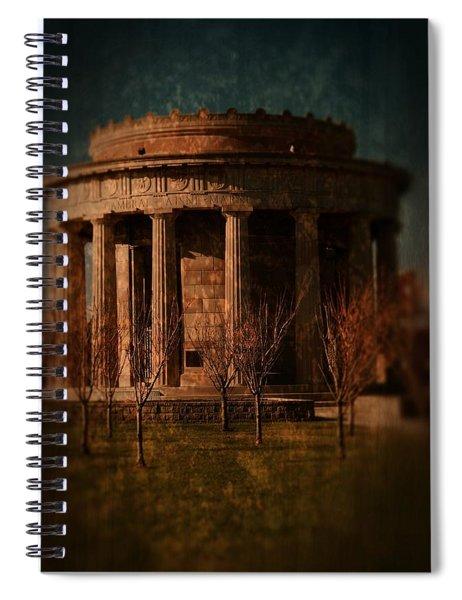 Greek Temple Monument War Memorial Spiral Notebook