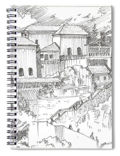 Greek Village Spiral Notebook