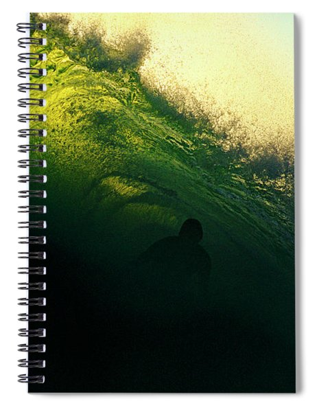 Green And Black Spiral Notebook