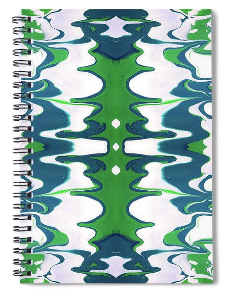 Green And Blue Swirl- Art By Linda Woods Spiral Notebook