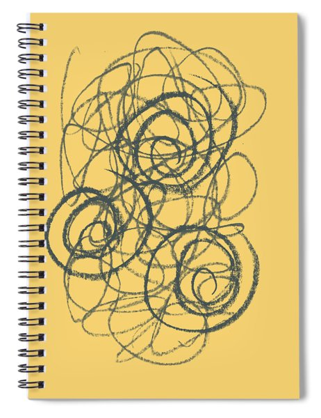 Green And Gold 2 Spiral Notebook