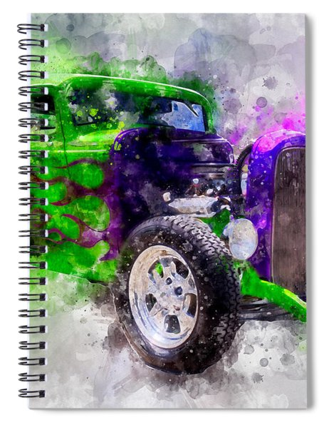 Green And Purple Watercolor Spiral Notebook