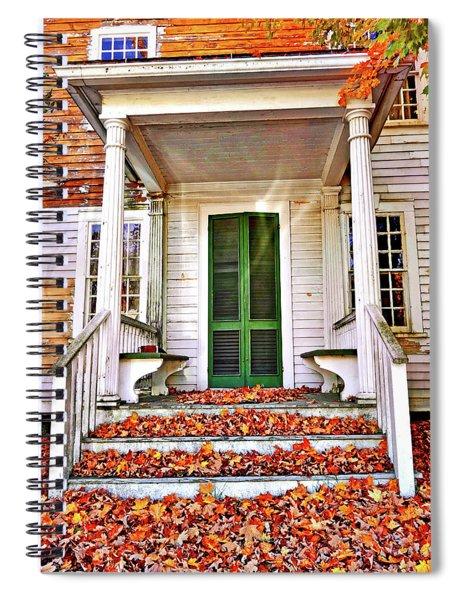Green Autumn Door Spiral Notebook