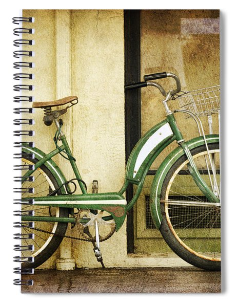 Green Bicycle Spiral Notebook