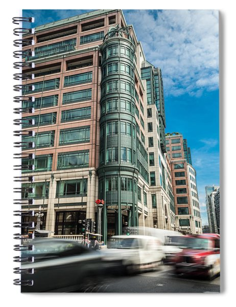 Green Building On Liverpool Metro Station London Spiral Notebook