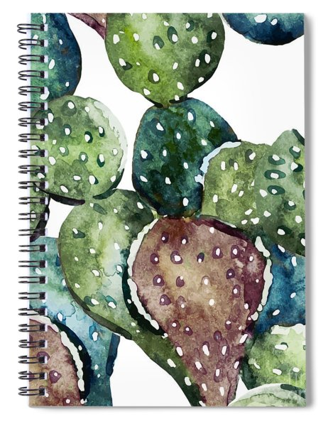 Green Cactus  Spiral Notebook