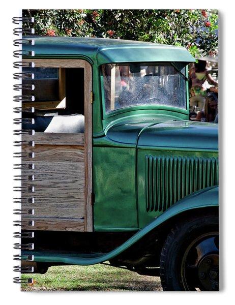 Green Classic Truck Spiral Notebook