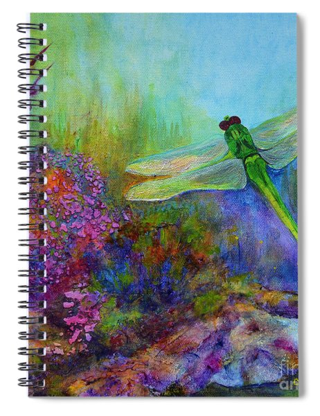 Green Dragonfly Spiral Notebook