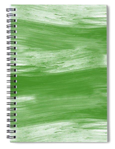 Green Drift- Abstract Art By Linda Woods Spiral Notebook