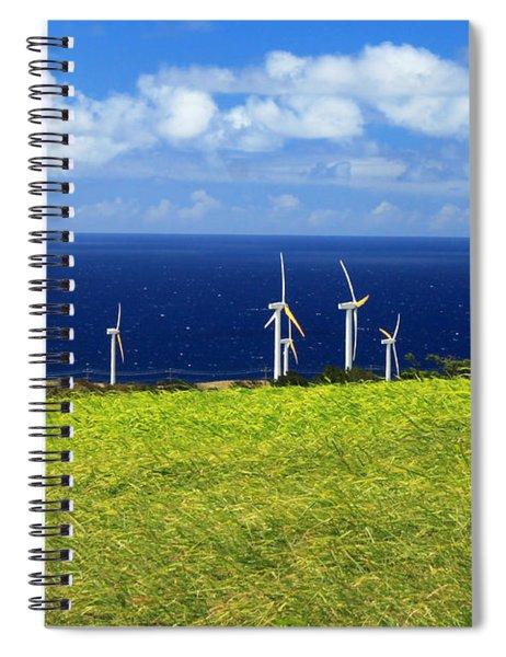 Green Energy Spiral Notebook