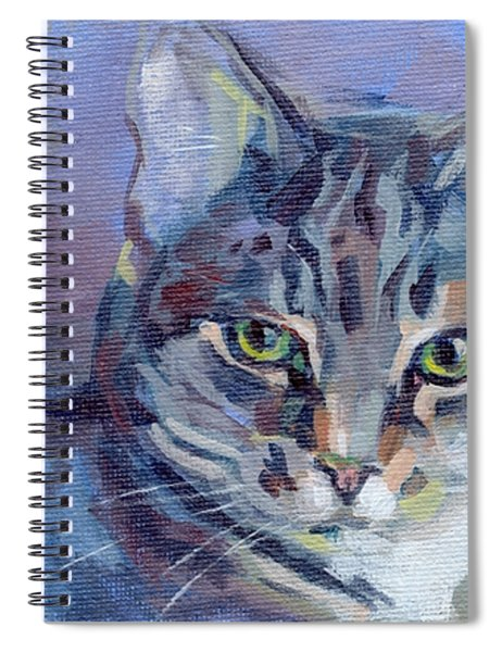 Green Eyed Tabby - Thomasina Spiral Notebook