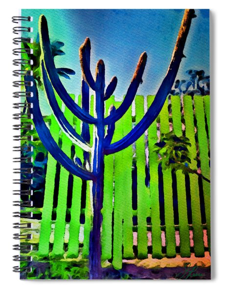 Green Fence Spiral Notebook