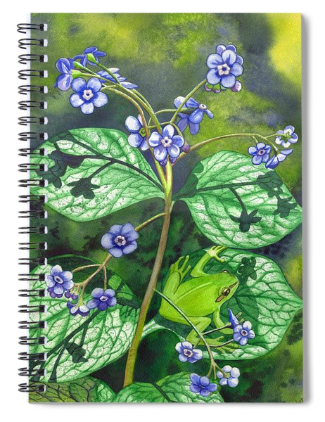 Green Frog Spiral Notebook