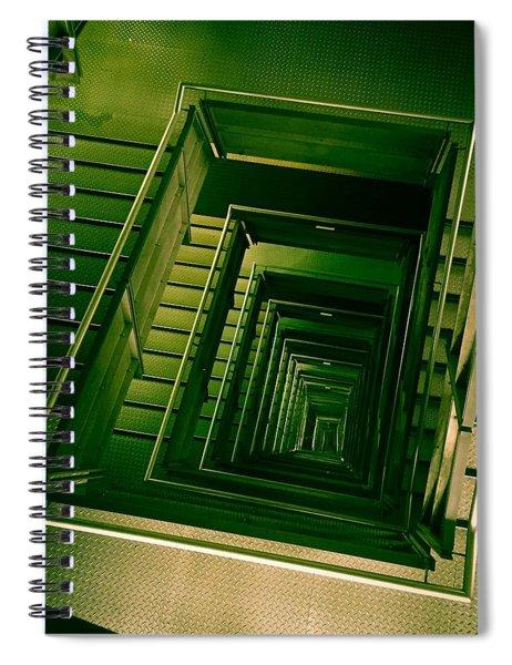 Green Infinity Spiral Notebook