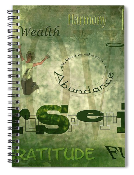 Green Knowings Spiral Notebook