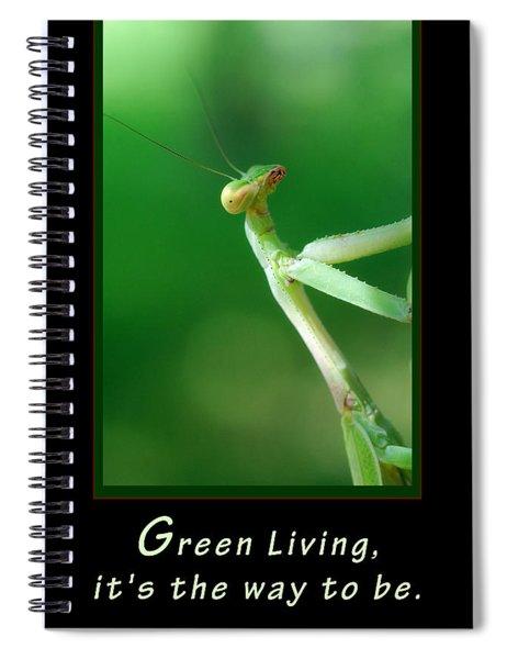 Green Living Spiral Notebook
