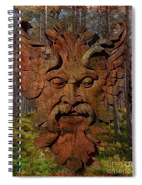 Green Man Of The Forest 2016 Spiral Notebook
