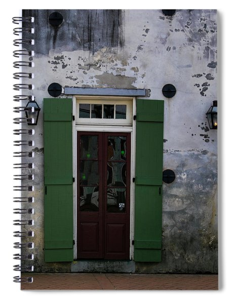 Green On Stucco Spiral Notebook