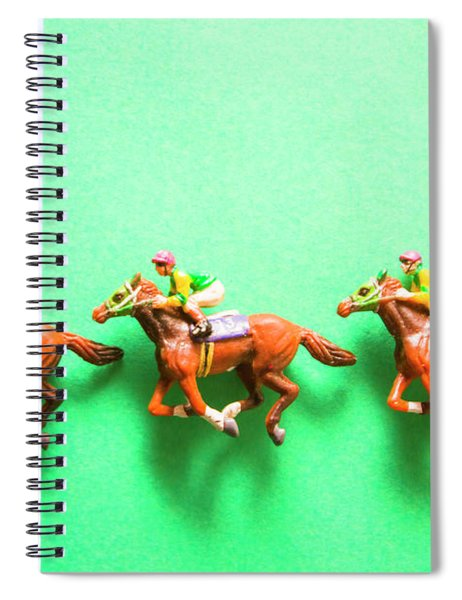 Green Paper Racecourse Spiral Notebook
