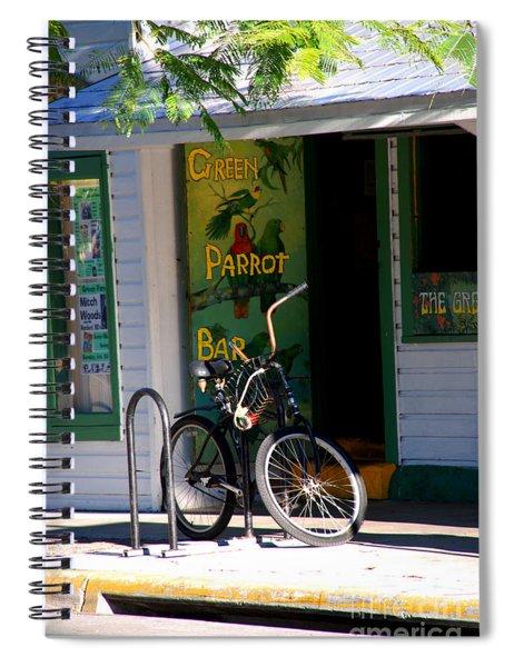 Green Parrot Bar Key West Spiral Notebook