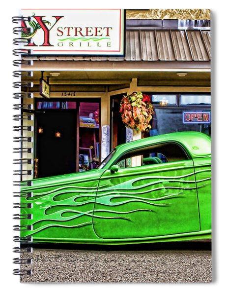 Green Roadster Spiral Notebook