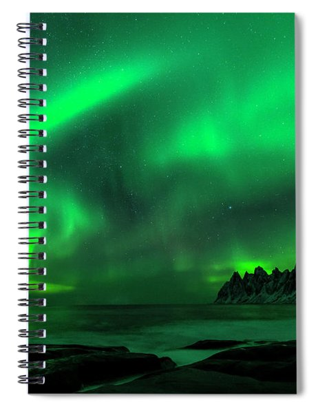 Green Skies At Night Spiral Notebook