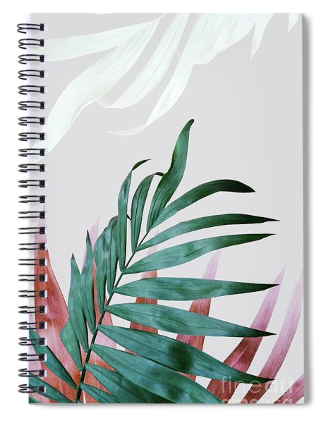 Green Tropical Leaves, Fern Plant Spiral Notebook