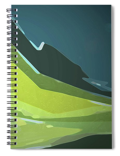Spiral Notebook featuring the digital art Green Valley by Gina Harrison