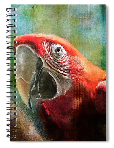 Green Winged Macaw Spiral Notebook