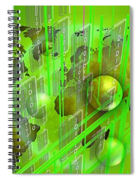 Green Work Spiral Notebook